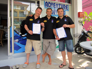 Igor and Vadim Instructor Certificate After Successful IE In Pattaya