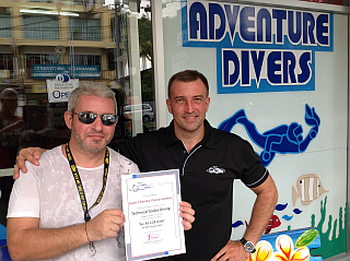 JC completes his PADI Tec 40 CCR Course