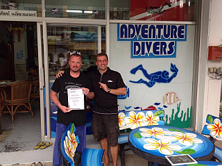 Peter completes his PADI Tec 40 CCR Course