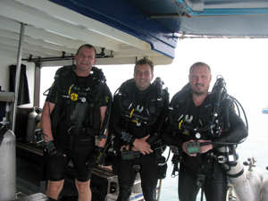Rebreather Divers after a great fun dive